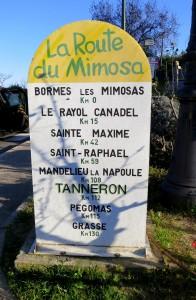 borne route du mimosa